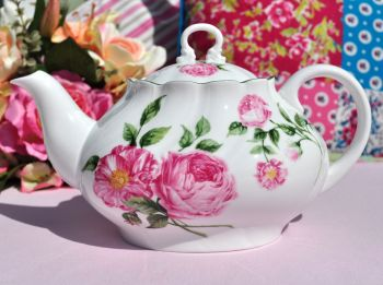 Queen's Rosina China Mottisfont Roses National Trust Teapot