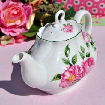 Queen's Rosina China Mottisfont Roses National Trust Teapot