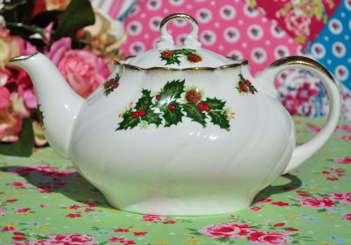 Queen's Rosina China Yuletide Teapot
