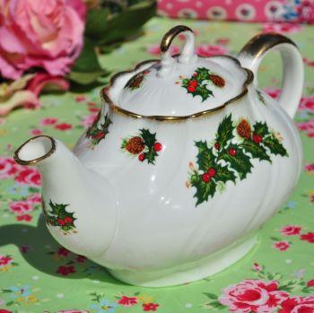 Queen's Rosina China Yuletide Teapot