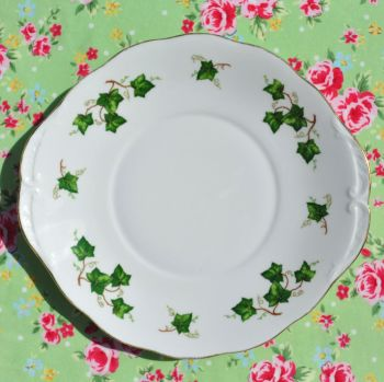 Colclough Green Ivy Vintage China Cake Serving Plate