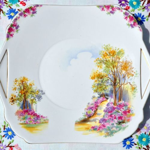 Shelley Englands Charm Ideal 0188 Cake Serving Plate c.1937