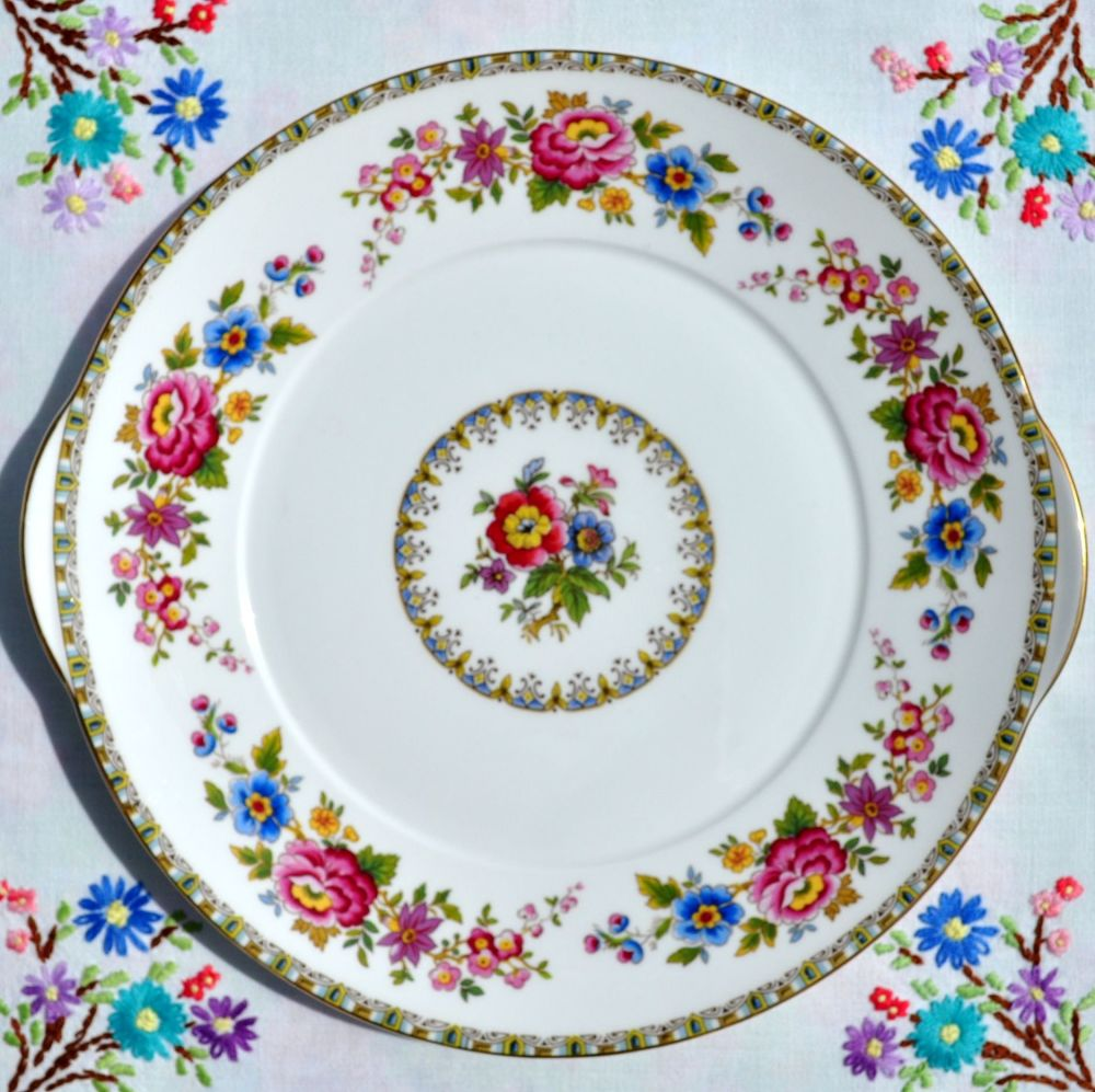 Royal Grafton Malvern Floral Vintage Fine China Cake Plate