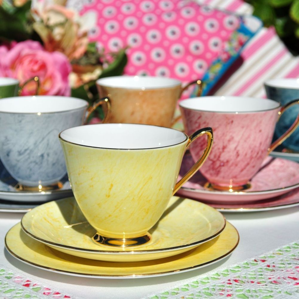 Royal Albert Gossamer Six Tea Cup Trios Set
