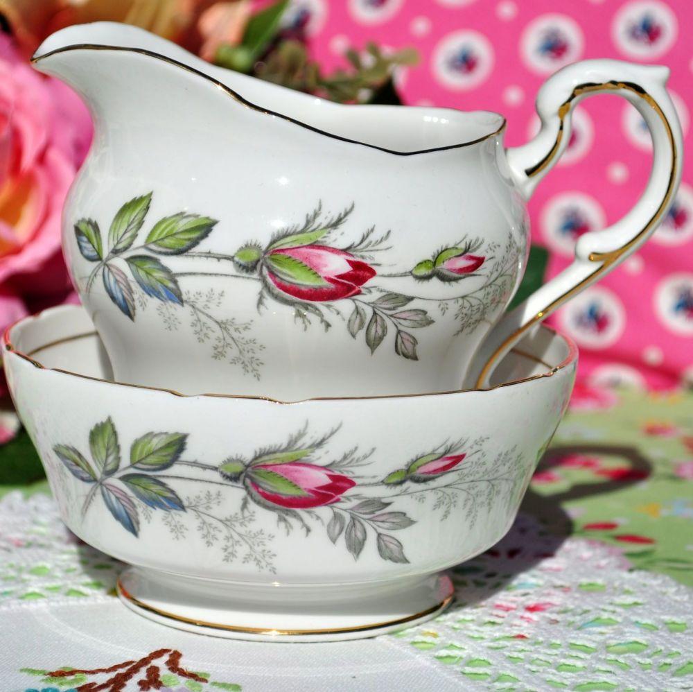 Paragon Bridal Rose Vintage China Milk Jug and Sugar Bowl
