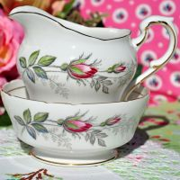 Paragon Bridal Rose Vintage China Milk Jug and Sugar Bowl