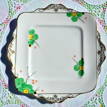 Paragon Art Deco Hand Painted F1997 Cake Plate c.1925+