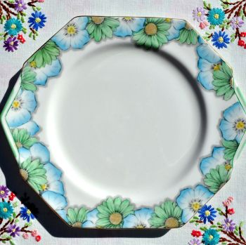 Paragon Art Deco Angled Fine China Cake Plate c.1932+