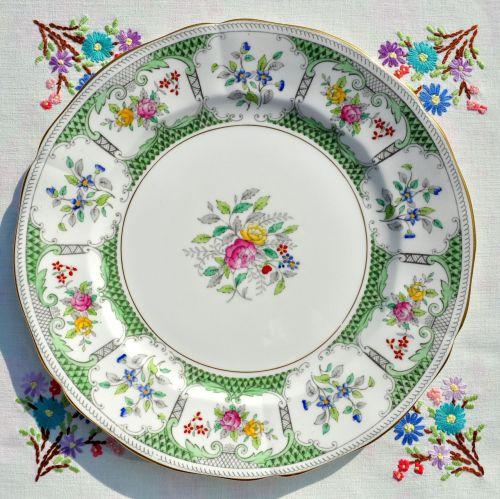 Adderley Lowestoft 26.5cm Vintage China Dinner Plate c.1960s