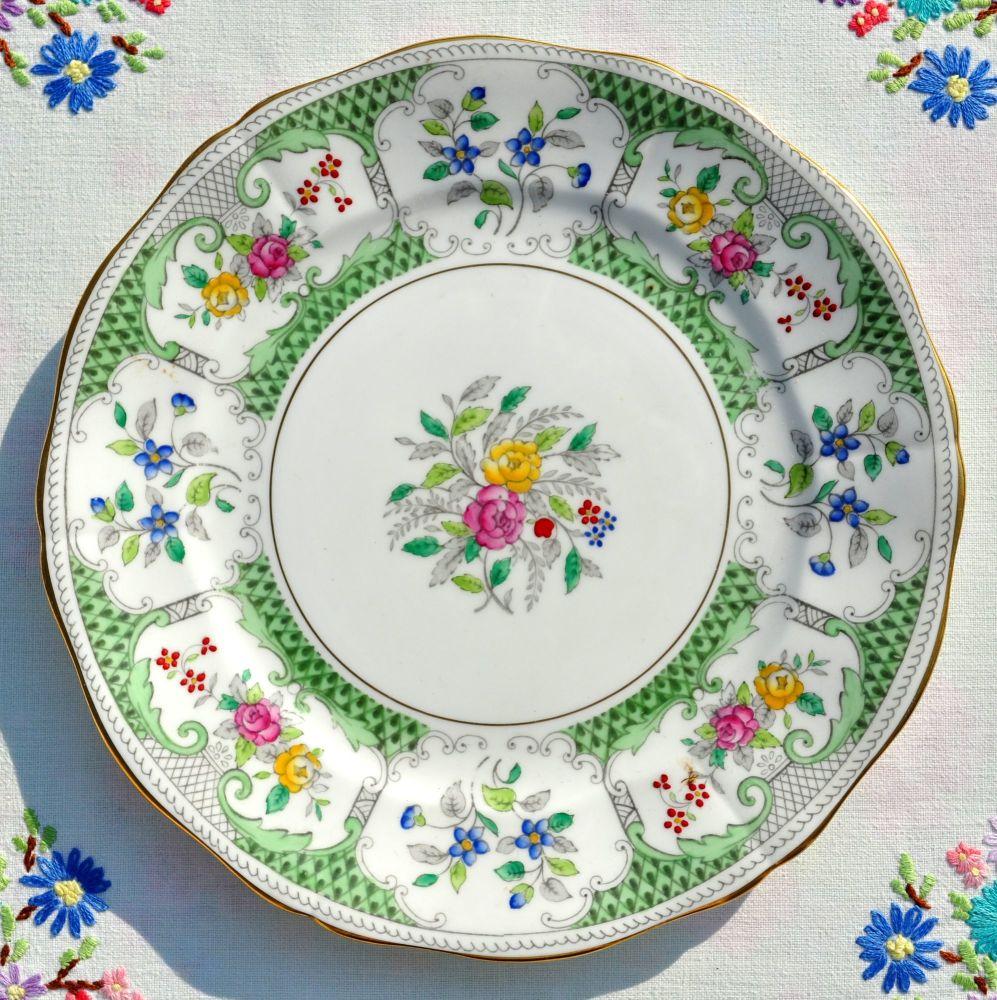 Adderley Lowestoft 20cm Vintage China Salad Plate c.1960s