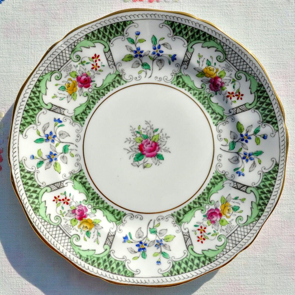 Adderley Lowestoft 16cm Vintage China Side Plate c.1960s