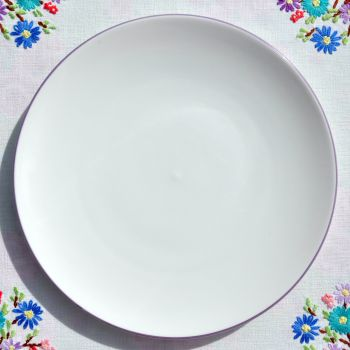 Aynsley Bone China Lilac Rim 21cm Salad Plate