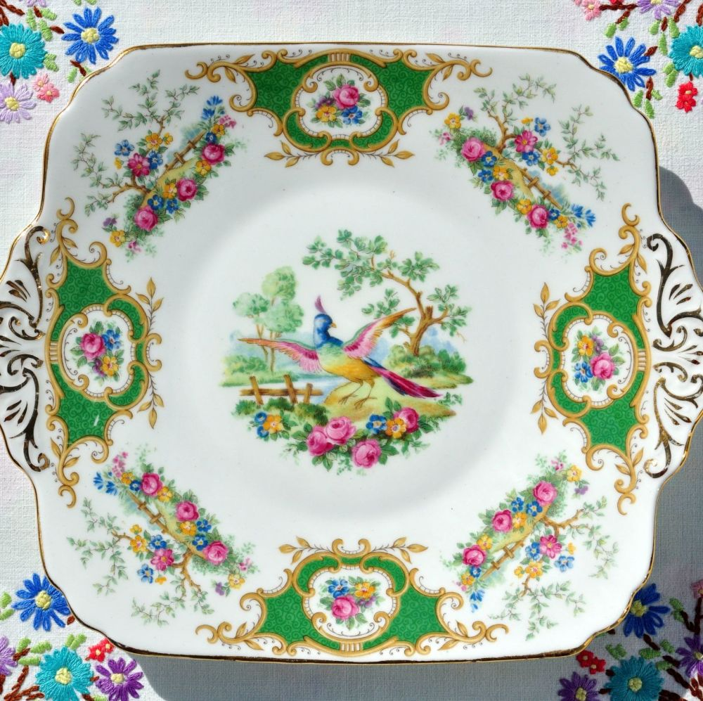 Foley Broadway Vintage 1930s Bone China Cake Plate