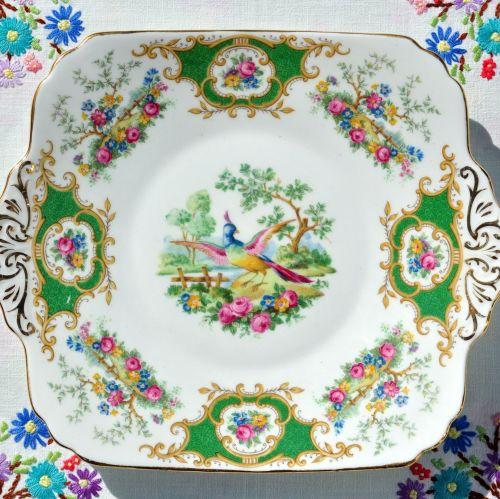 Foley Broadway Vintage 1930s Bone China Cake Plate