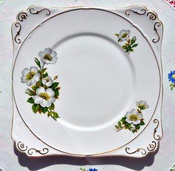 Gladstone Wild Rose Vintage Cake Plate c.1950s