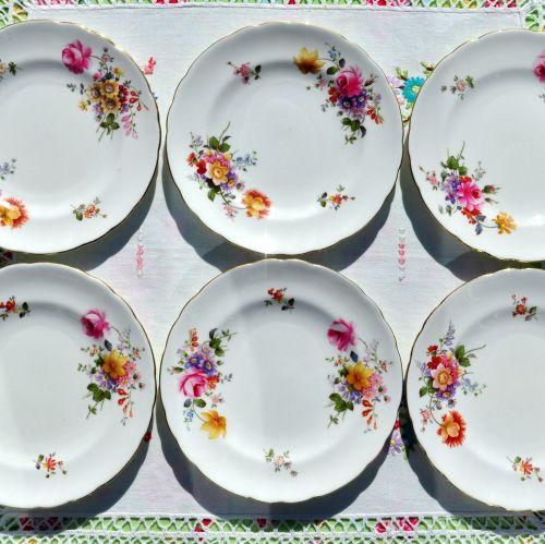Royal Crown Derby Posies Set of Six 16cm Tea or Side Plates