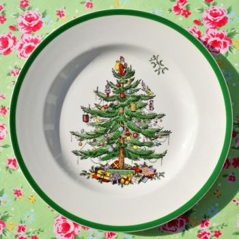 Spode Christmas Tree 27cm Dinner Plate S3324-AJ c.1953+