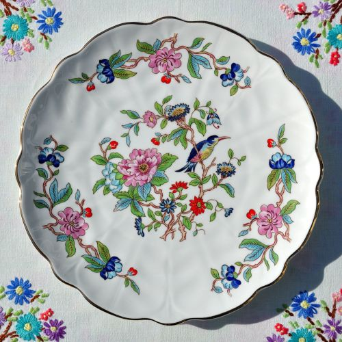 Aynsley Pembroke Fine Bone China 26cm Cake Serving Plate