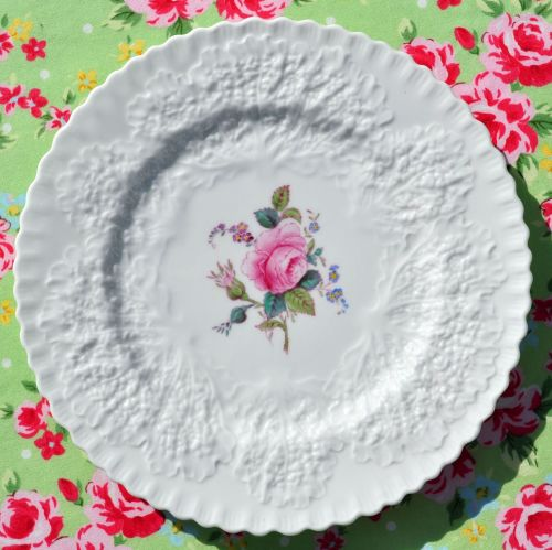 Spode Bridal Rose Embossed 19.5cm Plate c.1959