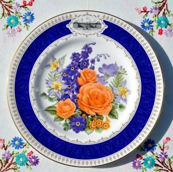 Royal Worcester Chelsea Anniversary Fine Bone China Plate c.1988