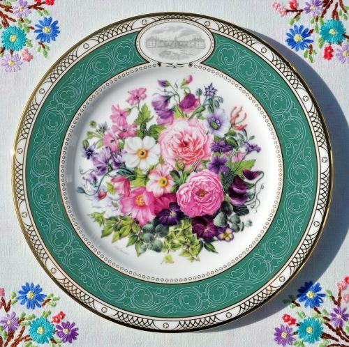 Royal Doulton The Royal Enchanted Gardens Bouquet Plate c.2001