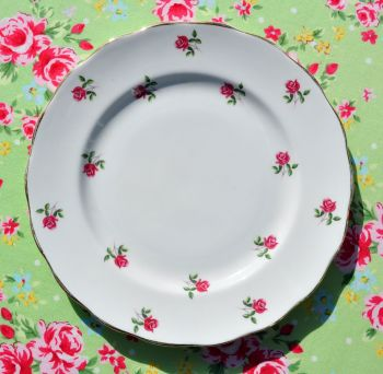 Colclough Fragrance Ditsy Pink Roses 21cm Plate