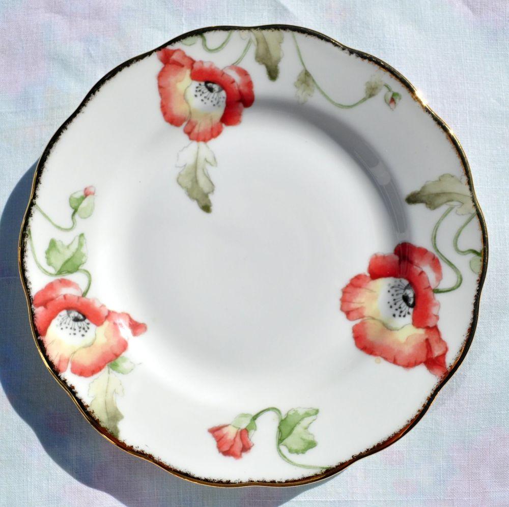 Royal Albert Poppy 1970's Style Bone China Tea Plate