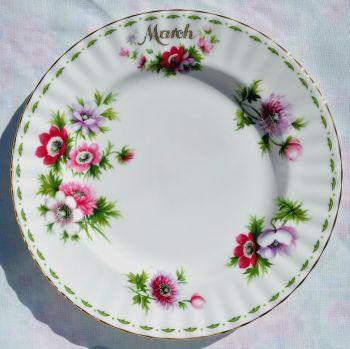 Royal Albert Anemones - March 20cm Salad Plate
