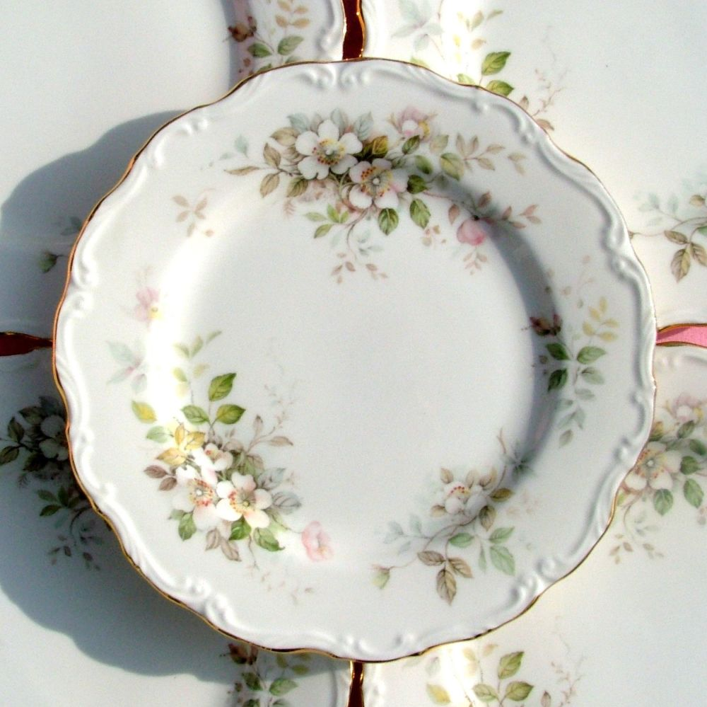 Royal Albert Haworth Set of Six Vintage Bone China 20cm Plates c.1982+
