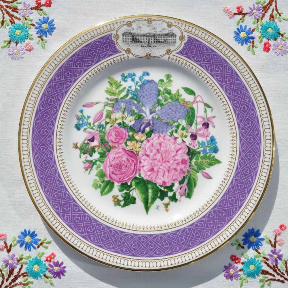Royal Albert Victorian Bouquet Fine Bone China Plate c.1990