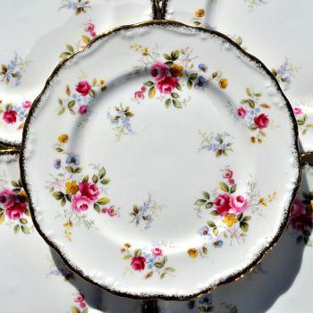 Royal Albert Tenderness Set of Six 18cm Vintage Bone China Plates