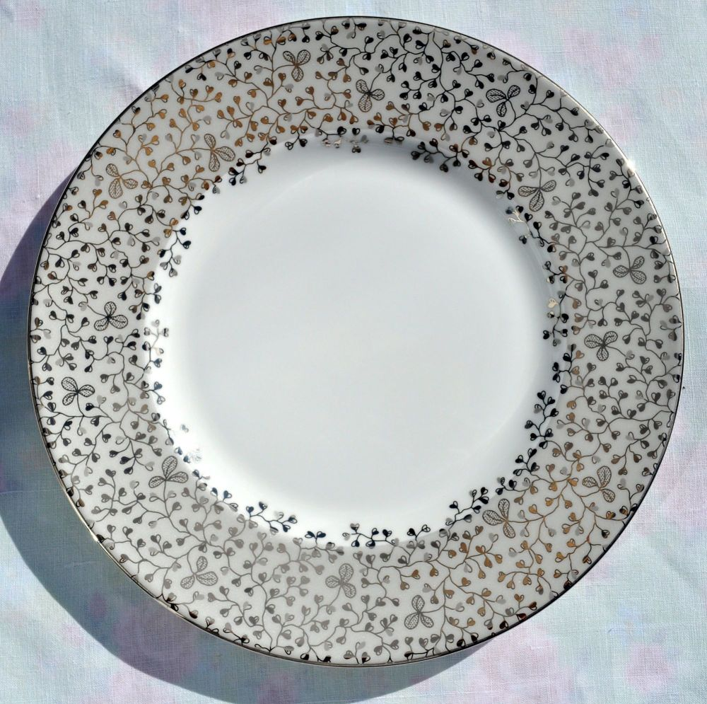 Wedgwood Bouquet Silver Bone China 22.5cm Salad Plate