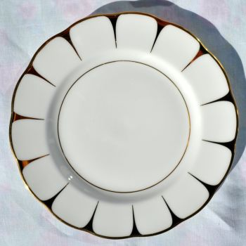 Royal Vale Gold and White 21cm Plates