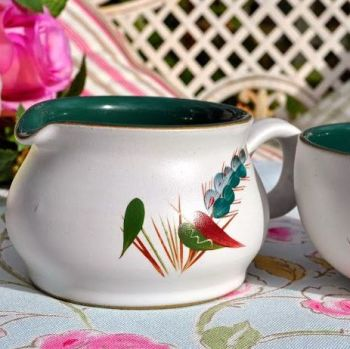 Denby Greenwheat Milk Jug and Sugar Bowl
