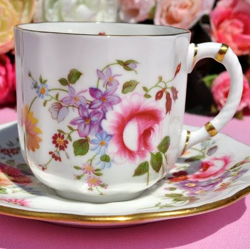 Royal Crown Derby Posies Vintage Espresso Cup and Saucer