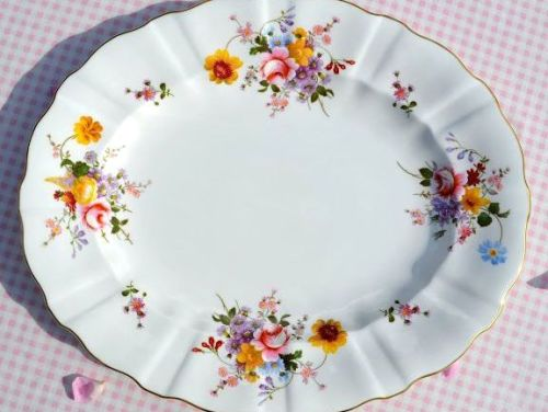 Royal Crown Derby Posies First Quality Large Vintage China Platter c.1985