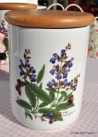 Royal Worcester Herbs Storage Canister Jar