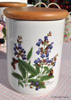 Royal Worcester Herbs Storage Canister Jar