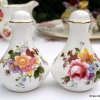 Royal Crown Derby Posies Salt and Pepper Pots