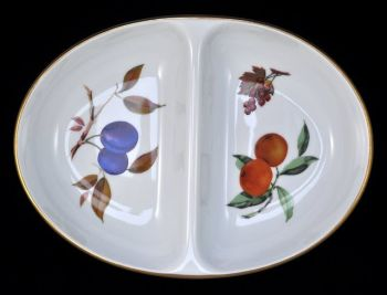 Royal Worcester Evesham Gold Divided Serving Dish