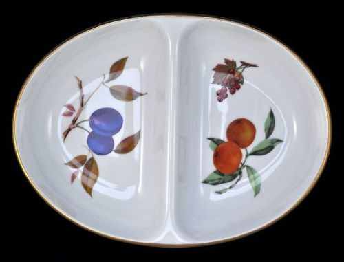 Royal Worcester Vintage Evesham Gold Divided Serving Dish