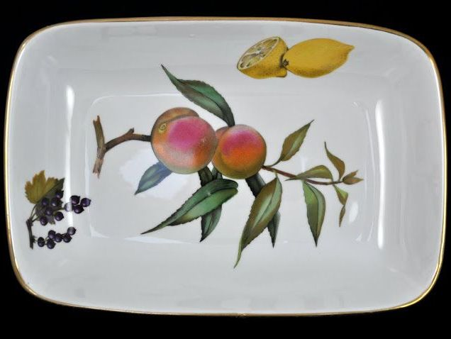 Royal Worcester Vintage Evesham Gold Rectangular Serving Dish