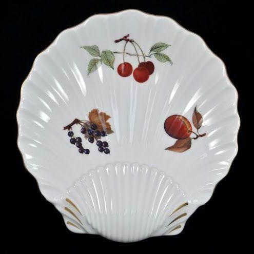 Royal Worcester Vintage Evesham Gold Shell Shaped Dish
