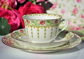 Adderleys Sicily Pattern Vintage Bone China Teacup Trio c.1926+