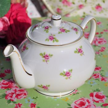 Duchess China Ditsy Pink Roses Teapot c.1960s