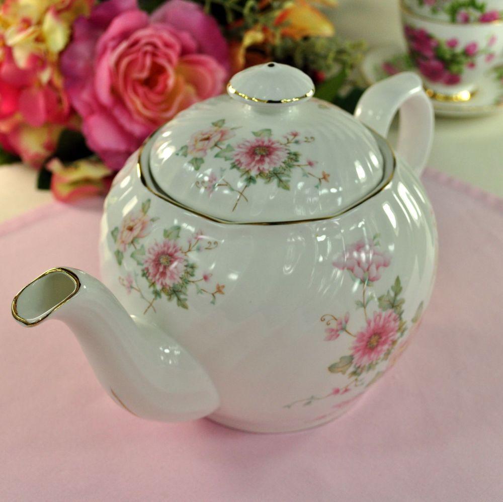 Royal Kendal Pastel Floral Large China Teapot