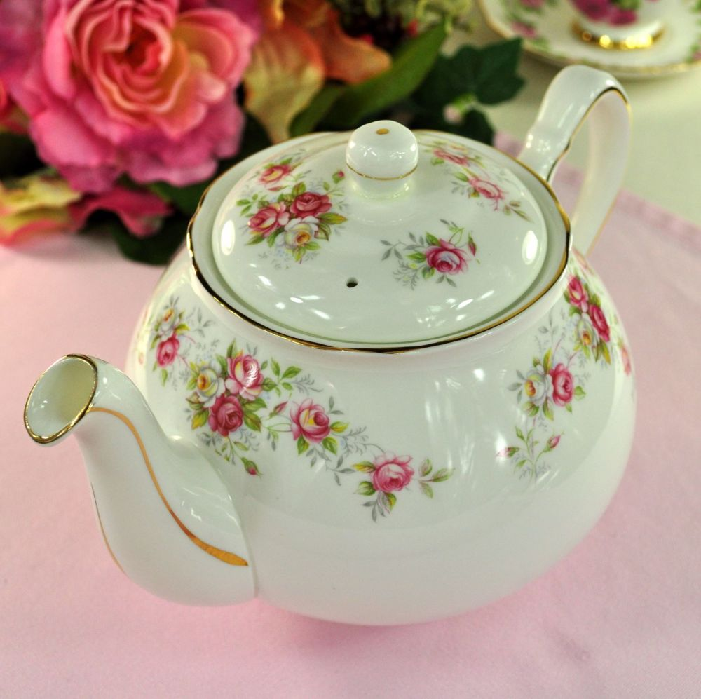 Duchess June Bouquet Vintage China Teapot