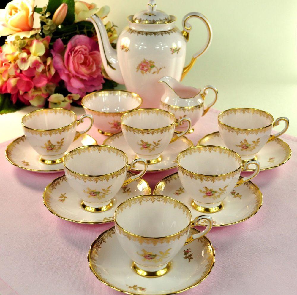 Tuscan Rosalie Vintage Pink China Tea or Coffee Set c.1957+