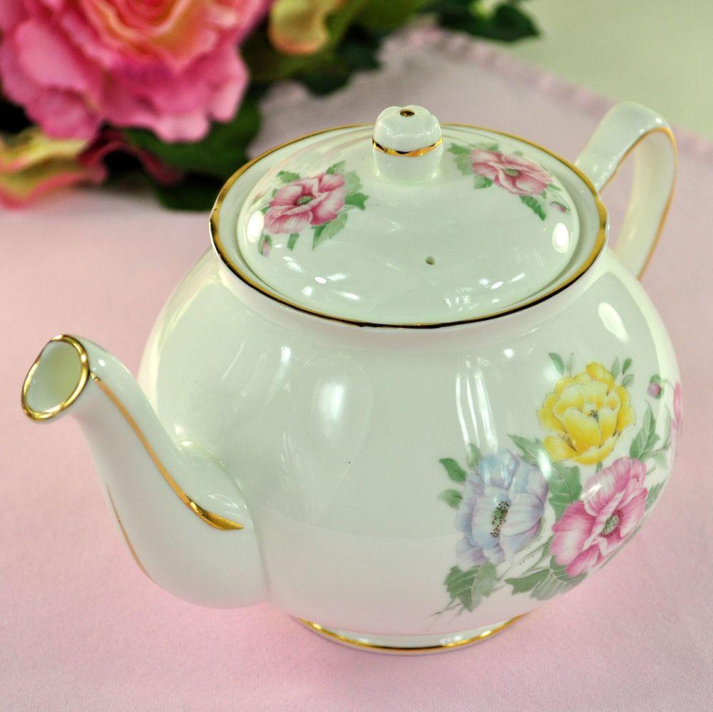 Duchess Godetia Vintage Bone China Teapot