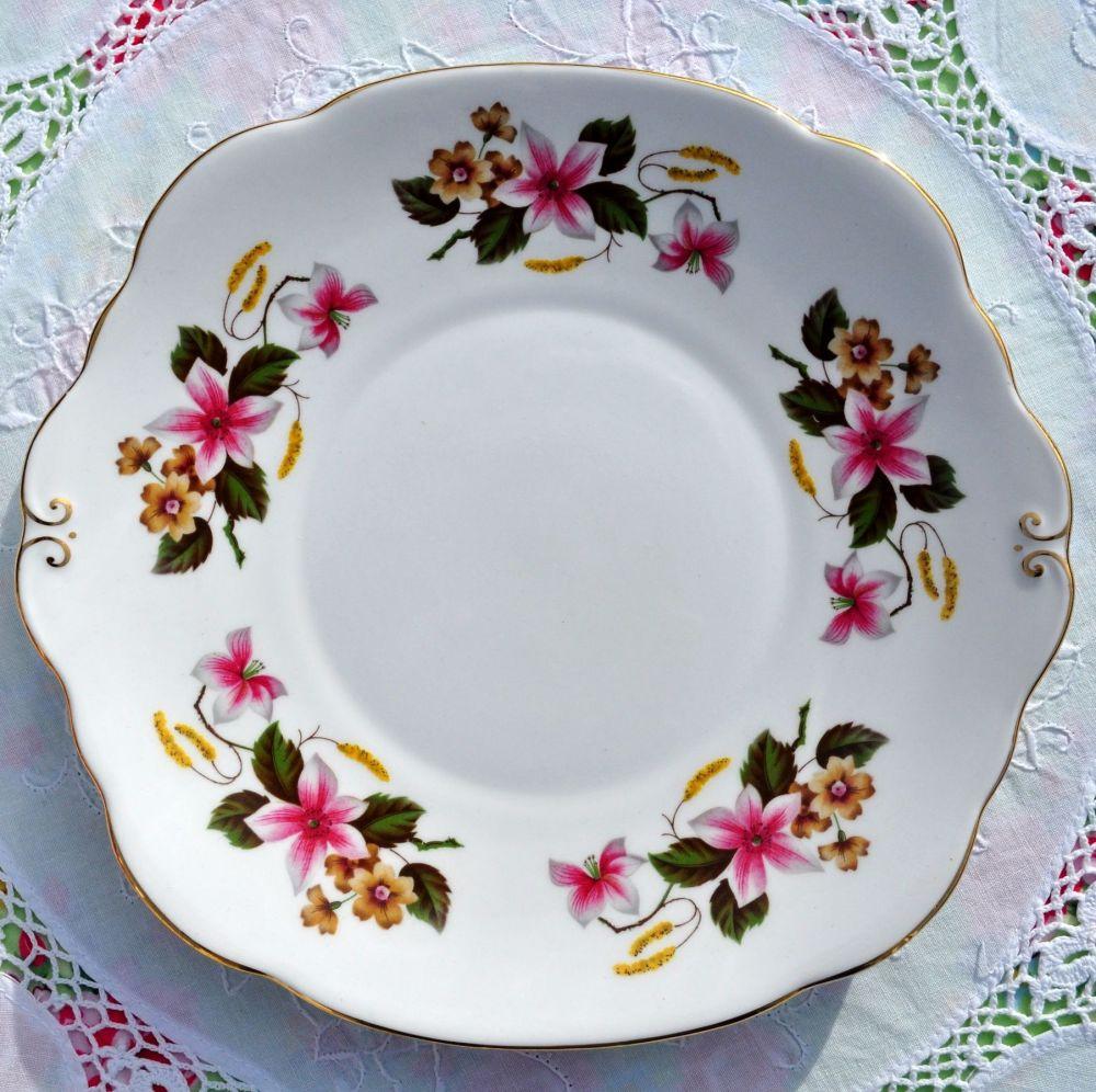 Duchess Windermere Vintage Bone China Cake Plate c.1960s